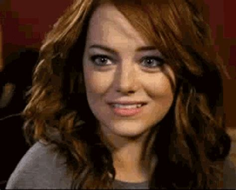 emma stone gif on tumblr emma stone flirt gif find share on giphy