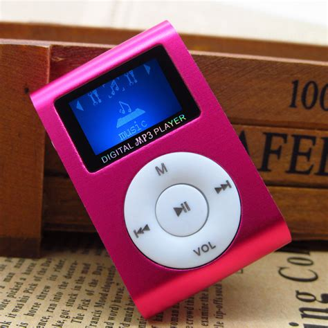 color mp3 lcd screen mp3 player 5 colors black red green blue silver