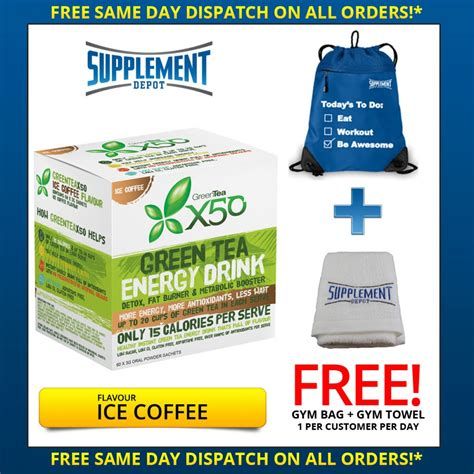 Label Detox Tea Coffee Weight Loss Antioxidant by Green Tea X50 Energy Drink By Tribecca Health 60 Serves