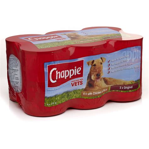 and rice food chappie tinned food chicken and rice 6 x 412g at wilko