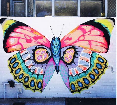 subiaco   graffiti wall art butterfly wall art