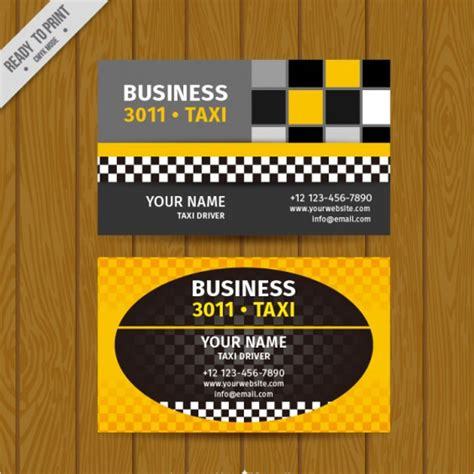 taxi name card template sle taxi business card template