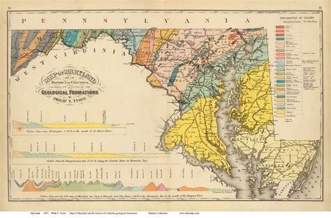 maryland geologic map maryland state maps page 1