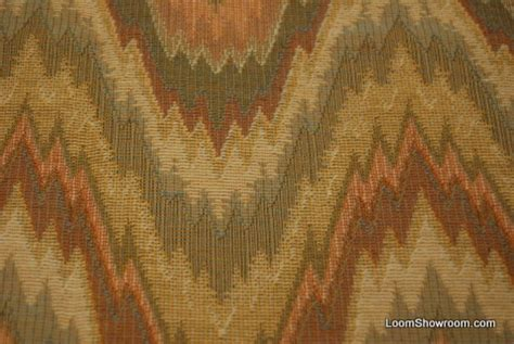 flame stitch upholstery fabric 3 4 yard piece flame stitch high end italian woven