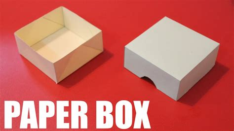A Paper Box - how to make a paper box easy diy paper box with lid