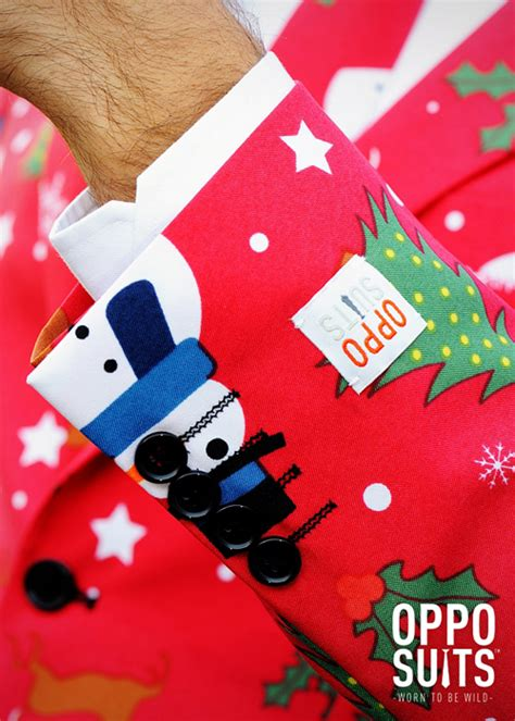 xmas pattern suit adult mens christmas pattern oppo suit costume