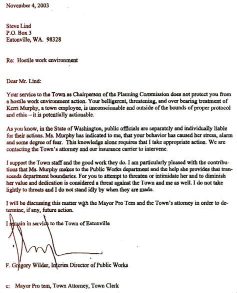 Letter Of Resignation Hostile Work Environment   Resume
