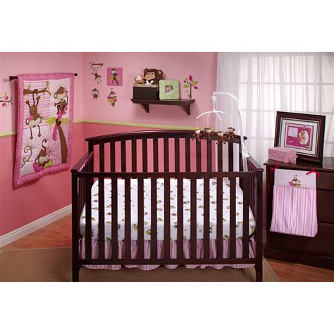 monkey crib bedding little bedding by nojo 3 little monkey girl crib set