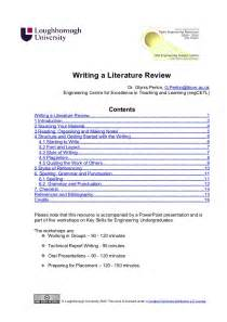How To Write Literature Review For Project Report writing a literature review handout