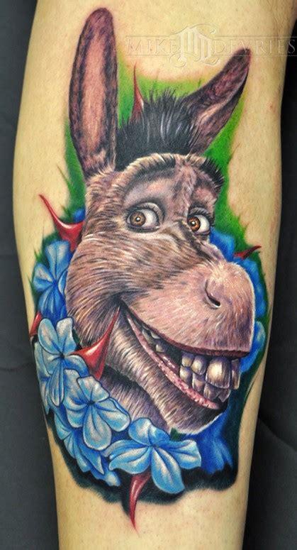 shrek tattoo from shrek by mike devries tattoos