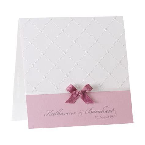 hochzeitskarten rosa hochzeitseinladung quot beverly quot rosa mit karomuster weddix de