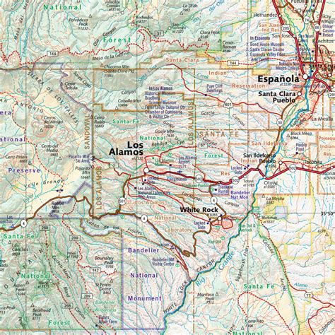 road atlas map new mexico road recreation atlas benchmark maps