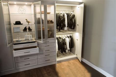 Wardrobe Lighting Solutions by Custom Closet Lighting Options With Led Closet Lights