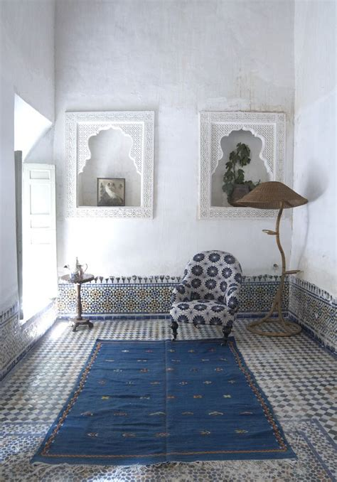 morroco style blue and white home interior luxury house design