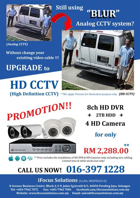 leaflet design for cctv hd cctv hari raya promotion your trusted security