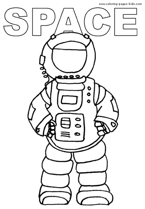 astronaut color sheet printables pics about space