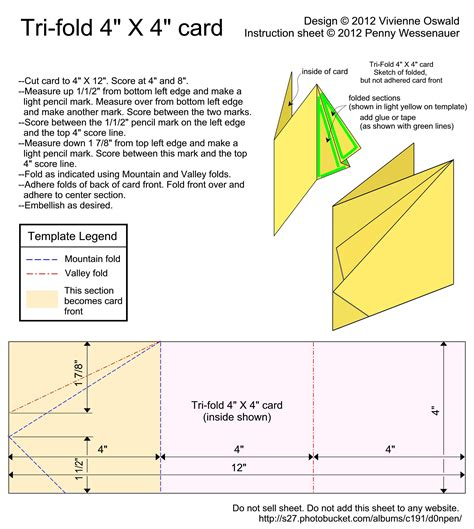 Tri Fold Card Templates by Card Templates Tri Fold 4x4 Card Image By D0npen