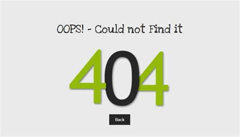 404 not found html template 30 free html 404 error page website template freshdesignweb