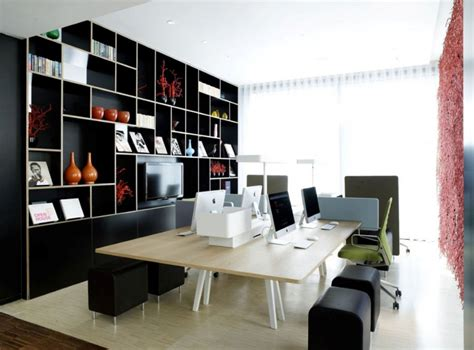 workspace design ideas minimalist small modern office design with shelves