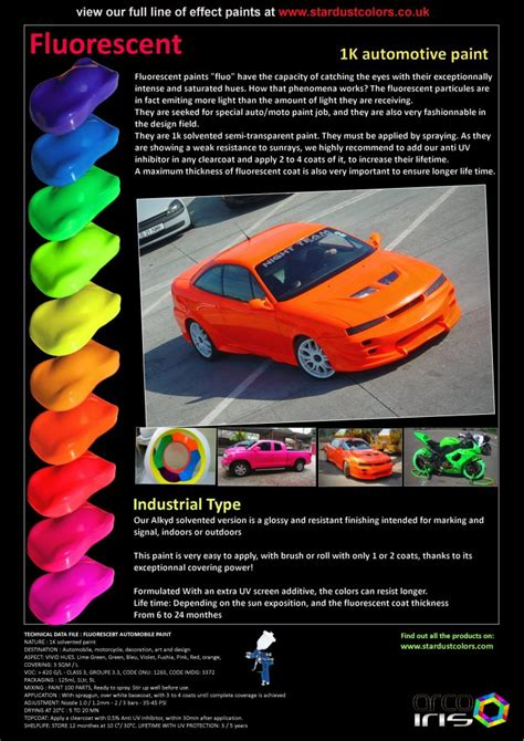 fluorescent paint for bodywork stardustcolors paints