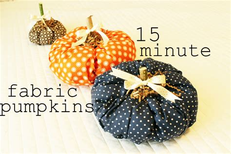 pattern for fabric pumpkins fabric pumpkin diy fall craft 15 minute fabric pumpkin