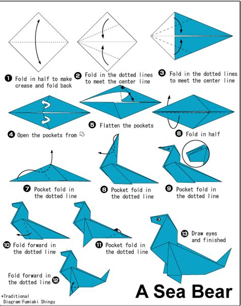 Origami Sea Creatures - origami for arts and crafts to do at home