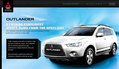 mitsubishi india mitsubishi outlander discontinued in india