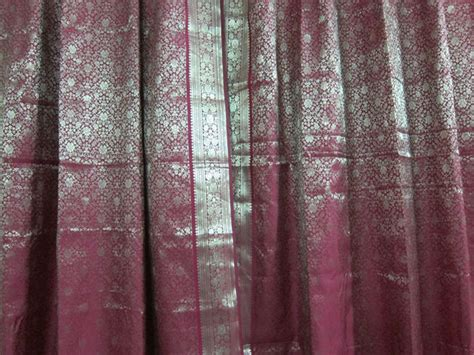indian sari curtains indian sari curtains dark red saree curtain india drapes