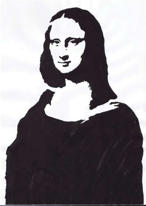 Stencil Pattern Artists | this stencil is of a famous painting symbolising the