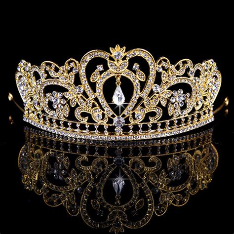 Tiara Princess Crown Mahkota Permata Type I 2016 new gold silver bridal tiaras crowns rhinestone pageant bridal wedding accessories