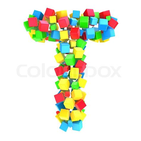 colorful letters letters t of colorful cube stock photo colourbox
