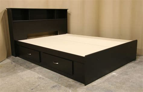 queen bed frame with drawers black queen bed with 4 drawers underneath decofurnish
