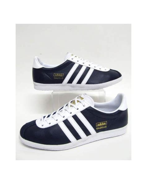 Adidas Gazele Navy adidas gazelle og trainers leather navy white originals
