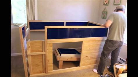 bed with slide ikea hack kura bed with slide and secret room