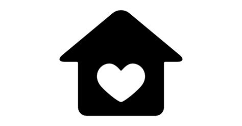 heart house house with heart free signs icons