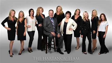 the hartanov team real estate team photo session vargas