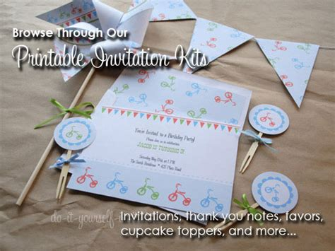 Free Printable Birthday Party Invitation Templates Do It Yourself Cards Templates