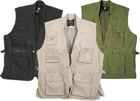 Outer Vest Xl Overall Cardi plain clothes concealed carry tactical cargo vest black khaki or oli grunt