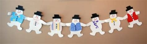How To Make Paper Snowman Chain - 6 paper decorations for the home or office