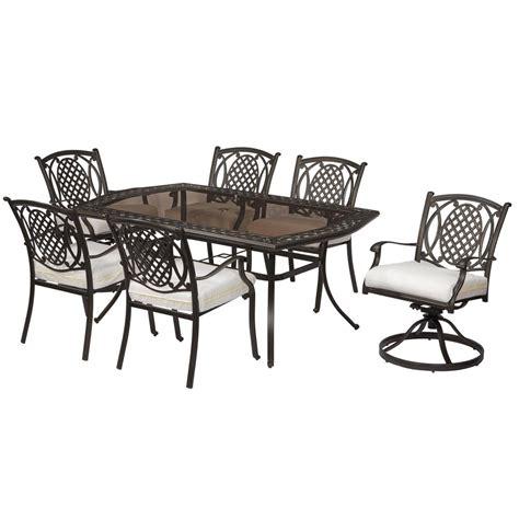 hampton bay belcourt  piece dining set  custom