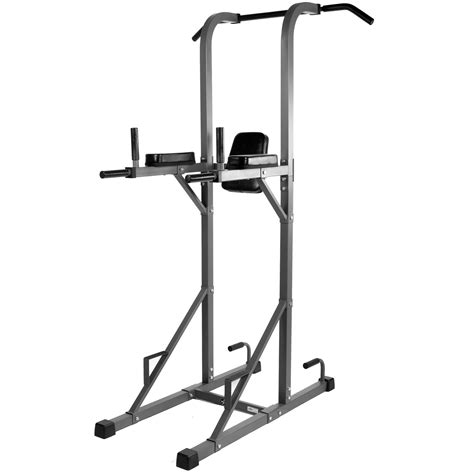 xmark power tower with dip station and pull up bar at