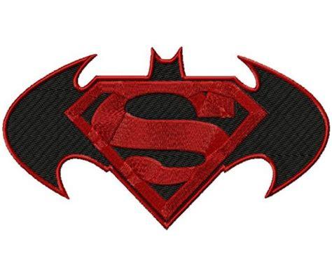 Kalung Logo Superman Vs Batman batman vs superman 3 logos machine embroidery design for instant