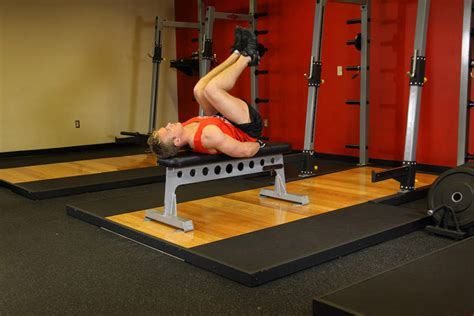 bench pull exercise flat bench leg pull in exercise guide and video