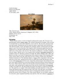 Painting Description Essay by Criticism Student Exle