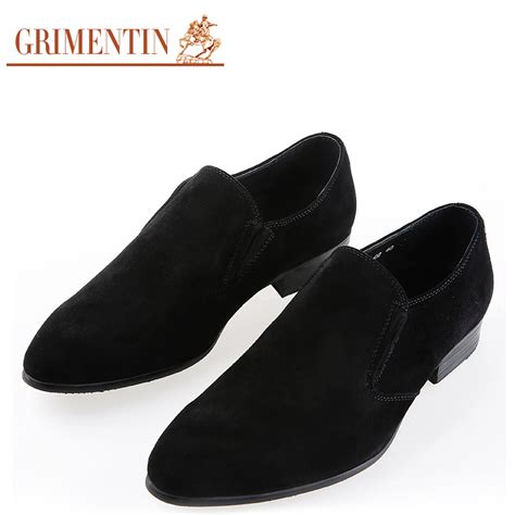 grimentin dress shoes suede leather slip on toe