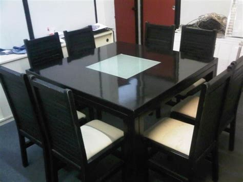 beautiull black square dining table for 8 stroovi