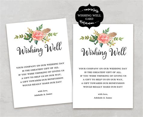 wishing card template wishing well card template printable wishing well card diy