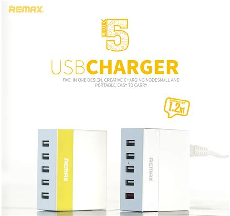 Remax 5 Ports Usb Hub Charger With Charger Uk Pl Berkualitas remax series ru u1 5 ports usb hub charger yellow