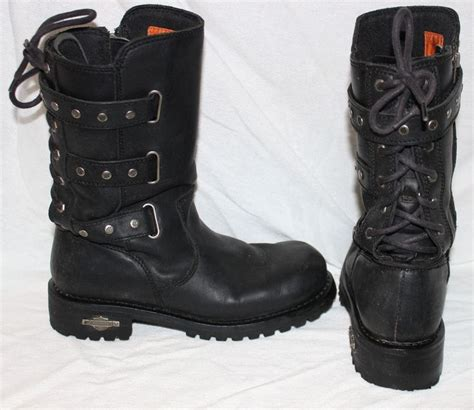 ladies harley riding boots harley davidson womens riding boots 9 corset billie black