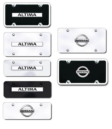 nissan altima license plate frame altima license plates vanity logo tags altima license